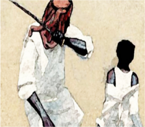 Street art depicting the Saudi Arabian Executions.