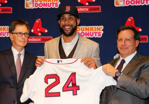 Price is introduced as a member of the Red Sox.