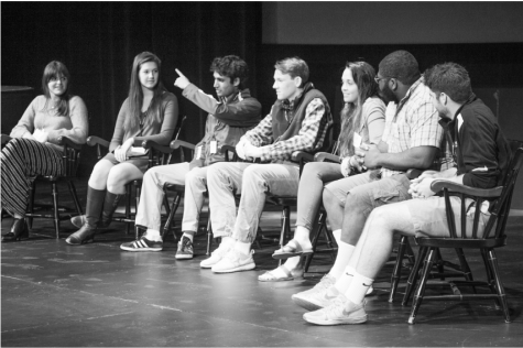 A panel of Sixth Formers spoke the night before Revisit Day.