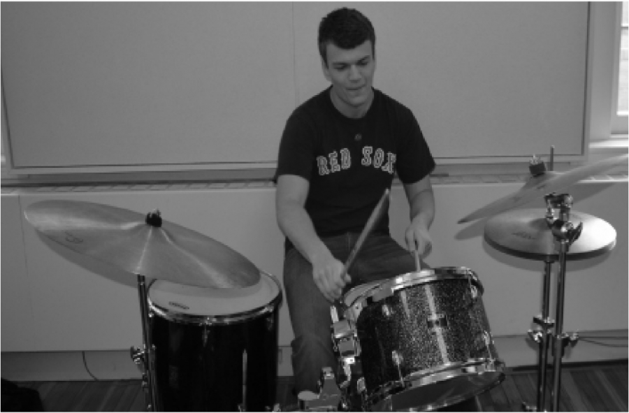 Steven Anton '16 on drums.