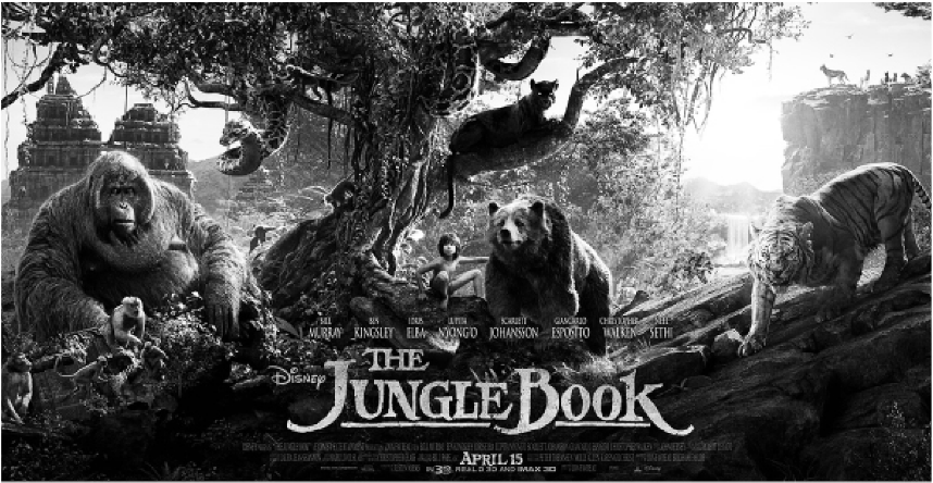 """Promotional poster for """"The Jungle Book."""""""
