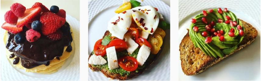 A series of Walker-Jacks's food Instagrams.