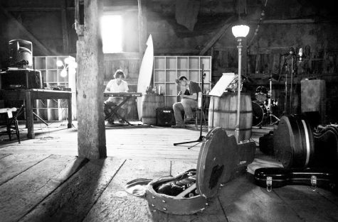 Henry and Davis recording in the Gemmell-Hughes barn.