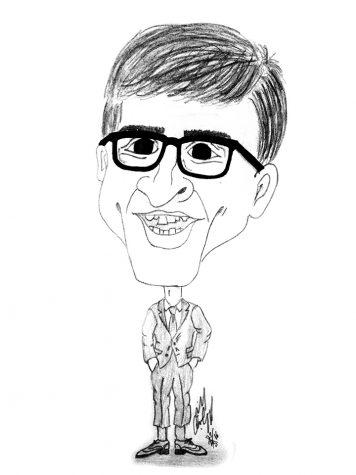 Cartoon of John Oliver