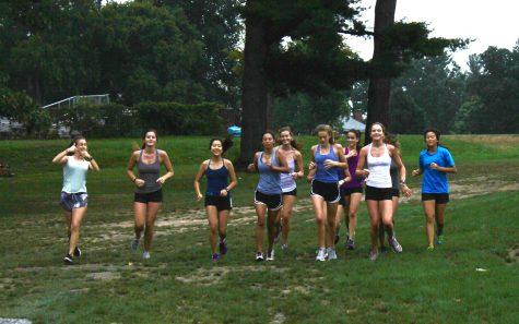 Girls XC preseason run