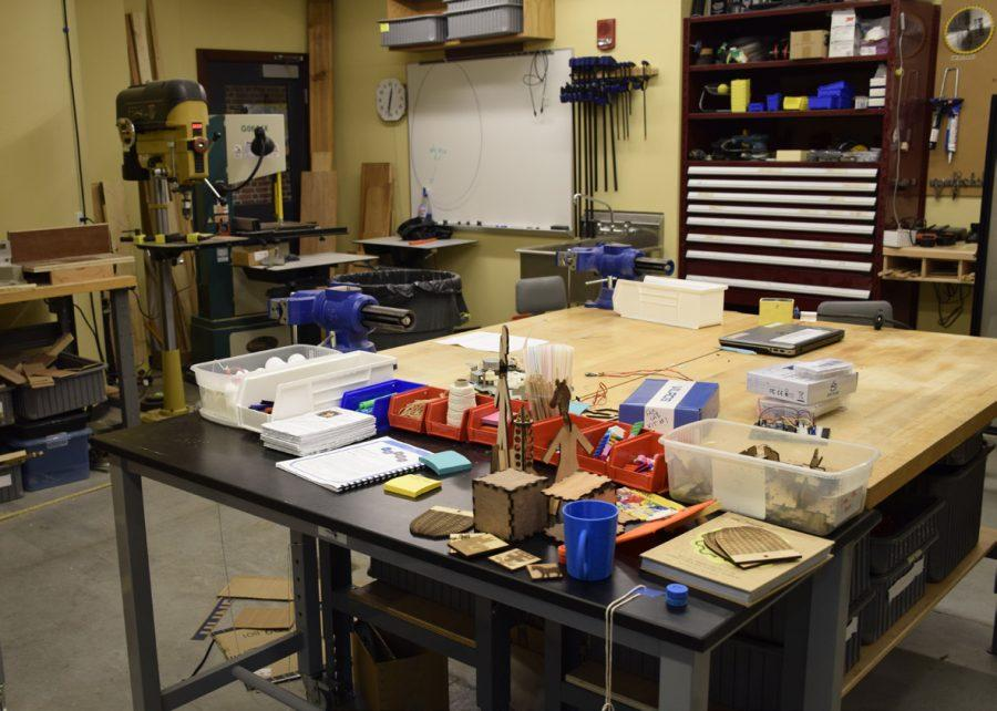 The Fab Lab is filled with many advanced tools.