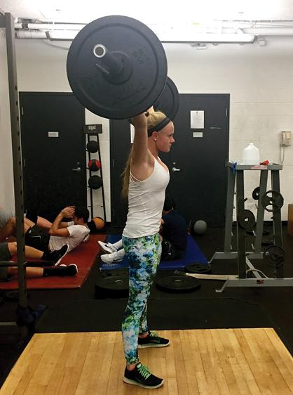 During off season, Carrie '17 lifts more than books