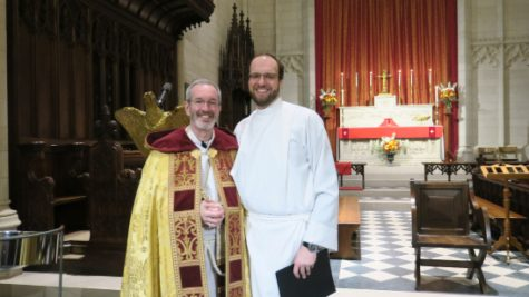 On January 23, Reverend Whiteman was ordained as an Episcopalian priest.