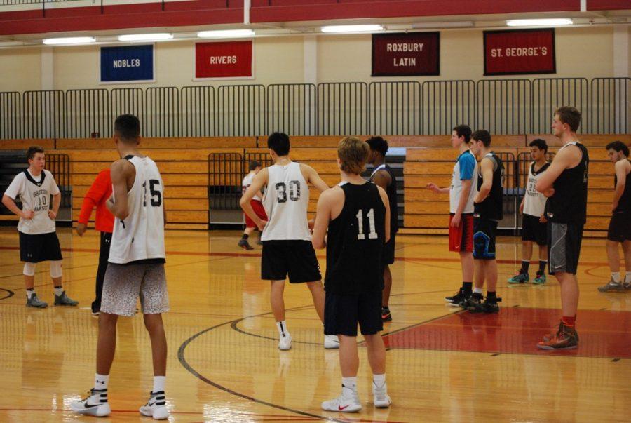 Varsity+Basketball+prepares
