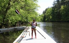 Nailah on the boathouse dock.