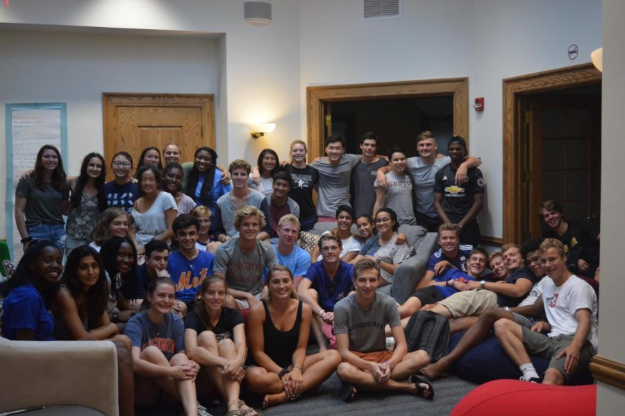 Peer counselors and lead prefects meet for training.
