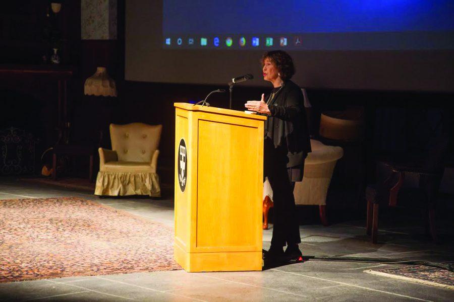 Azar Nafisi giving her talk.