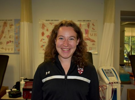Jackie Nolan started her new job in the Sports Medicine Center this fall.