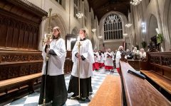 Student acolytes leading the procession into St. John's Chapel.