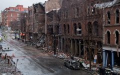 A street destroyed by a bomb. Courtesy of Andrew Nelles.
